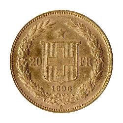 Goldmünze Helvetia