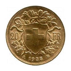 Vreneli 1935 - Gold