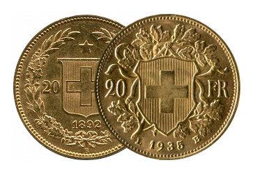 Vreneli Goldmünzen